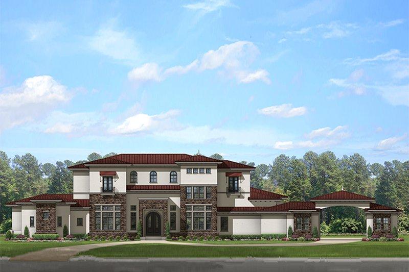 Dream House Plan - Mediterranean Exterior - Front Elevation Plan #1058-151