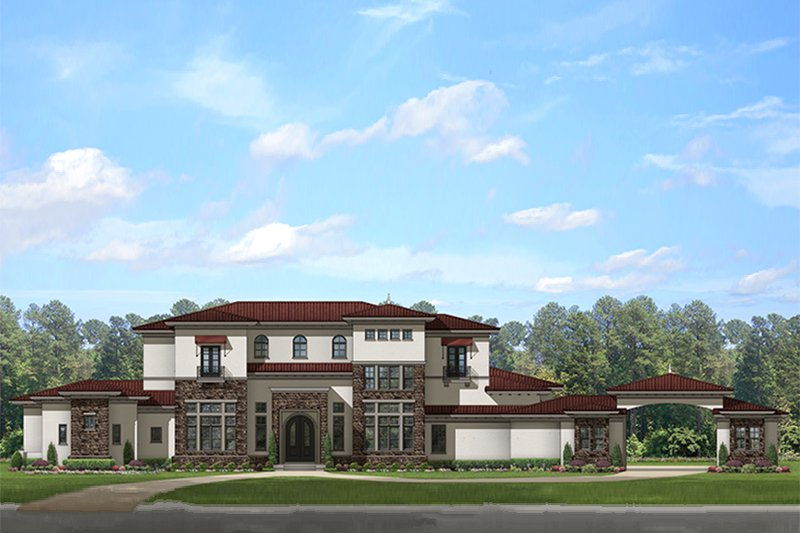 Home Plan - Mediterranean Exterior - Front Elevation Plan #1058-151