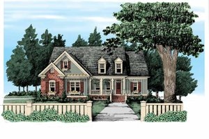 Dream House Plan - Country Exterior - Front Elevation Plan #927-305