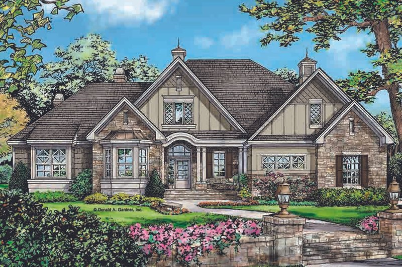 Architectural House Design - Country Exterior - Front Elevation Plan #929-969