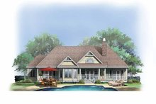 Ranch Exterior - Rear Elevation Plan #929-403
