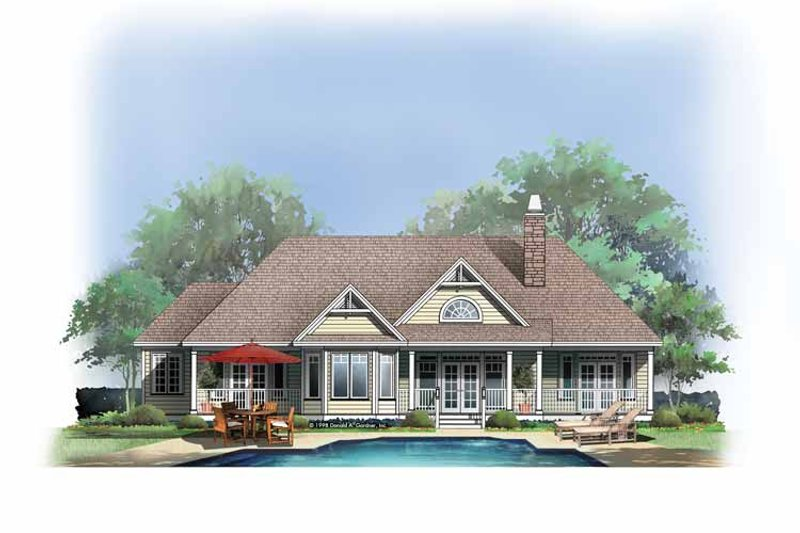 Craftsman Exterior - Rear Elevation Plan #929-403 - Houseplans.com