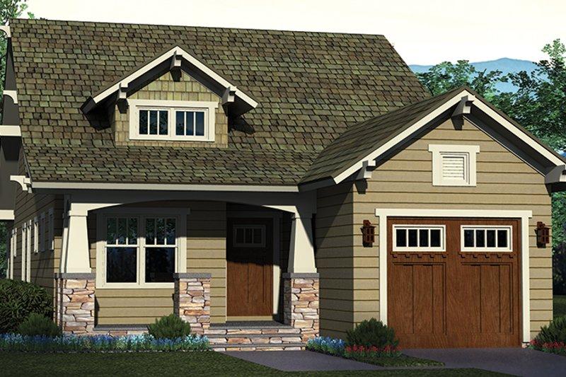 Craftsman Exterior - Front Elevation Plan #453-618 - Houseplans.com