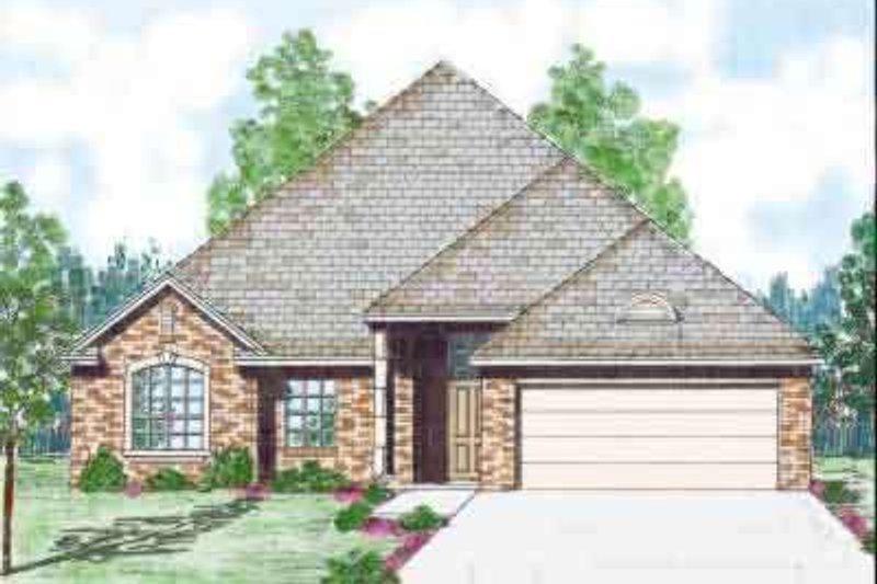 European Exterior - Front Elevation Plan #52-173