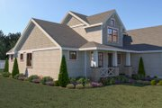 Craftsman Style House Plan - 3 Beds 2.5 Baths 2260 Sq/Ft Plan #1070-70 Exterior - Other Elevation