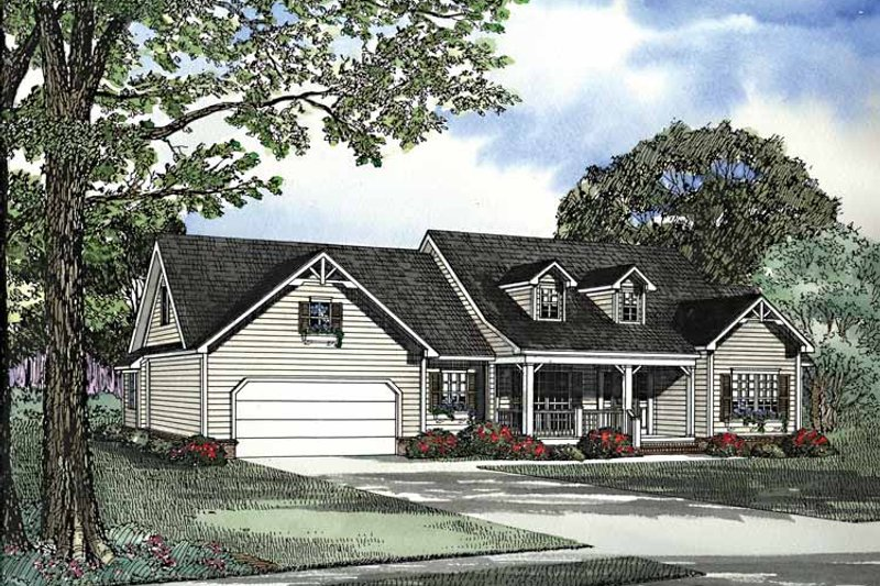 Country Exterior - Front Elevation Plan #17-3246