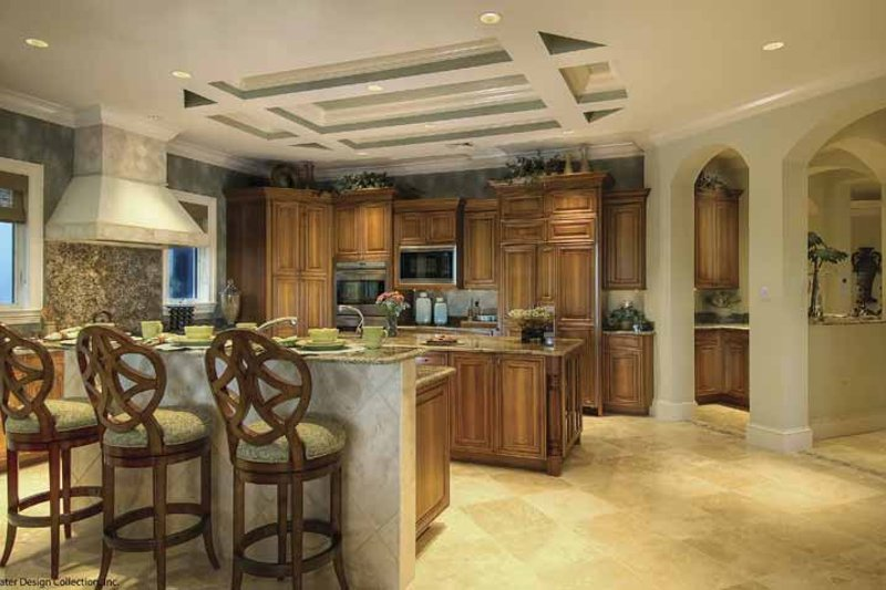 Mediterranean Interior - Kitchen Plan #930-421 - Houseplans.com