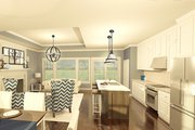 Ranch Style House Plan - 2 Beds 2 Baths 1408 Sq/Ft Plan #1010-178 Interior - Kitchen
