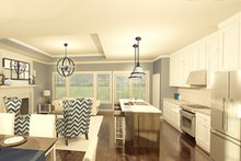 Ranch Interior - Kitchen Plan #1010-178