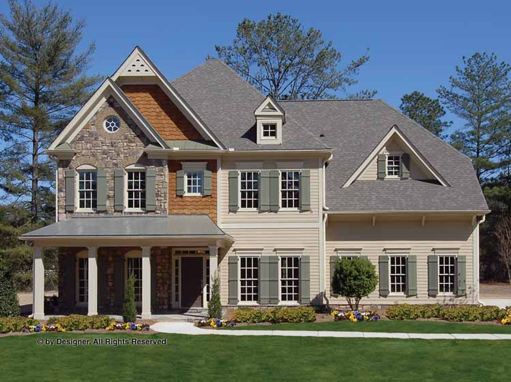 Country style house plan 5 beds 3 5 baths 3636 sq ft for Build a house for under 5000 dollars