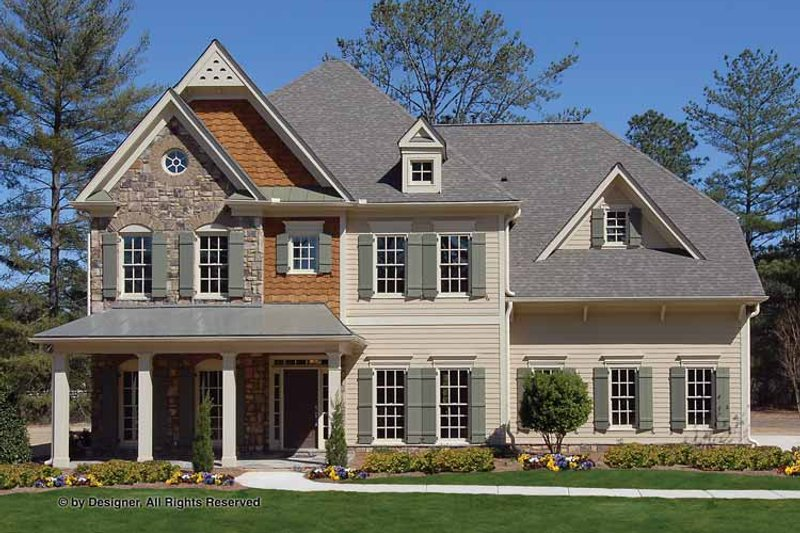 Country Exterior - Front Elevation Plan #54-360 - Houseplans.com