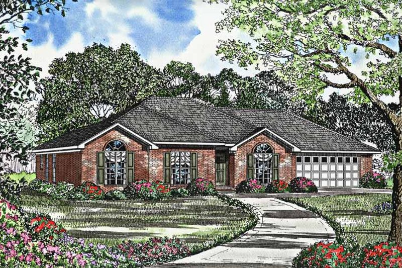 Ranch Exterior - Front Elevation Plan #17-3016