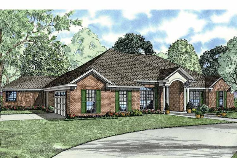 Classical Exterior - Front Elevation Plan #17-2770 - Houseplans.com