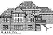 Mediterranean Style House Plan - 3 Beds 2.5 Baths 2462 Sq/Ft Plan #70-513 Exterior - Rear Elevation