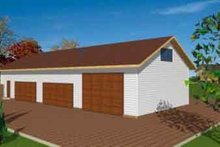 Home Plan - Traditional Exterior - Front Elevation Plan #117-253