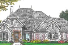 European Exterior - Front Elevation Plan #310-1268