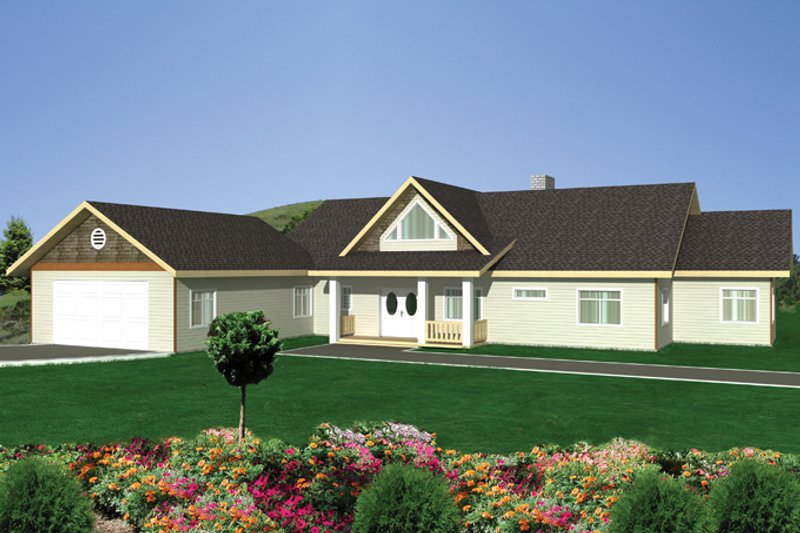 Contemporary Exterior - Front Elevation Plan #117-849 - Houseplans.com