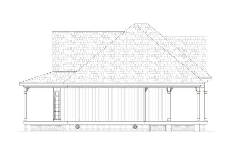 Cottage design, beach style, elevation