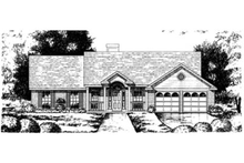 Home Plan - Southern Exterior - Front Elevation Plan #40-250
