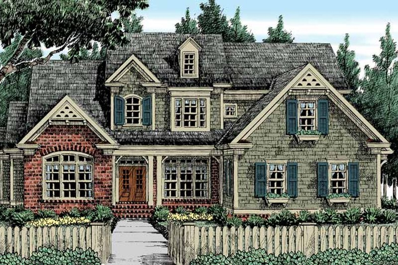 Dream House Plan - Country Exterior - Front Elevation Plan #927-414