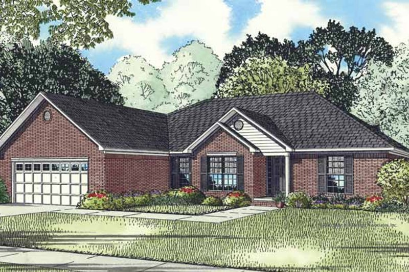 Traditional Exterior - Front Elevation Plan #17-3275 - Houseplans.com