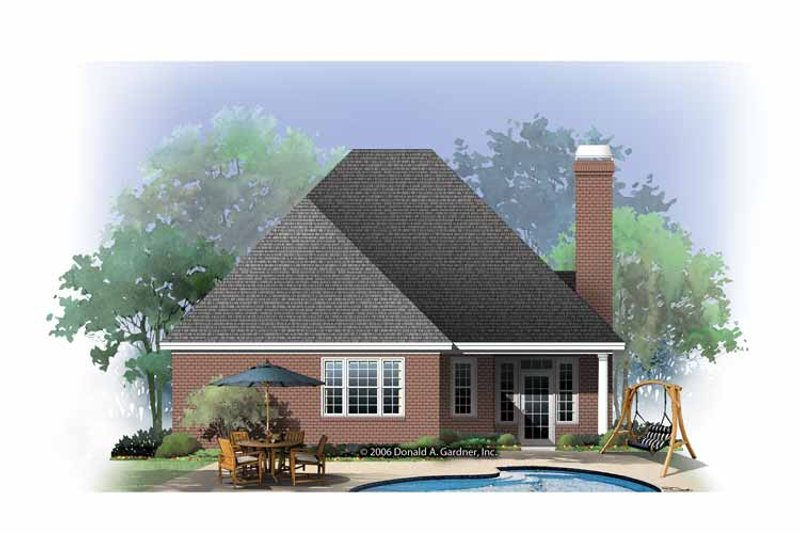 Ranch Exterior - Rear Elevation Plan #929-865 - Houseplans.com