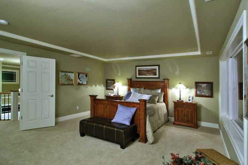 Craftsman Interior - Master Bedroom Plan #132-241 - Houseplans.com