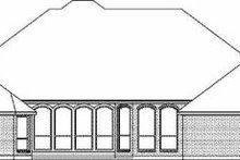 Dream House Plan - European Exterior - Rear Elevation Plan #84-151