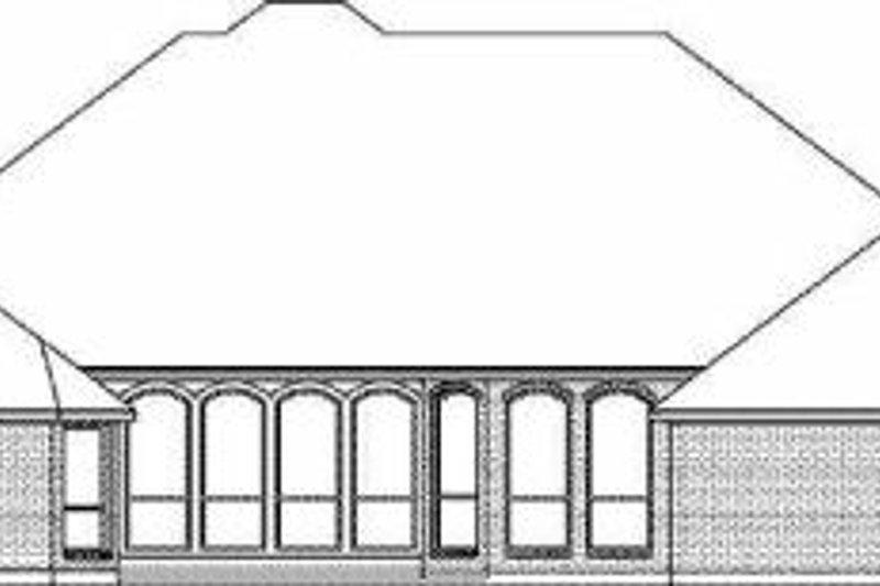 European Exterior - Rear Elevation Plan #84-151 - Houseplans.com