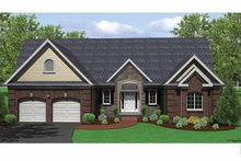 Ranch Exterior - Front Elevation Plan #1010-26
