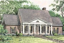 House Design - Southern colonial style home, elveation