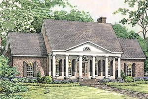 Southern colonial style home, elveation
