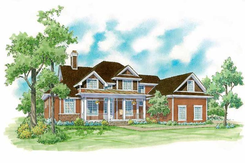 Colonial Exterior - Front Elevation Plan #930-228
