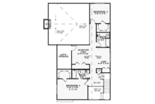 Craftsman Floor Plan - Upper Floor Plan Plan #17-3382