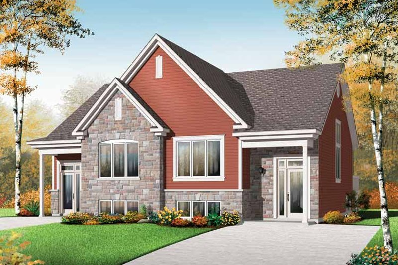 Traditional Exterior - Front Elevation Plan #23-2496 - Houseplans.com
