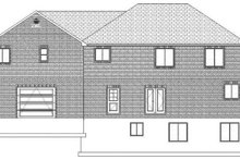 House Plan Design - Traditional Exterior - Rear Elevation Plan #1060-18