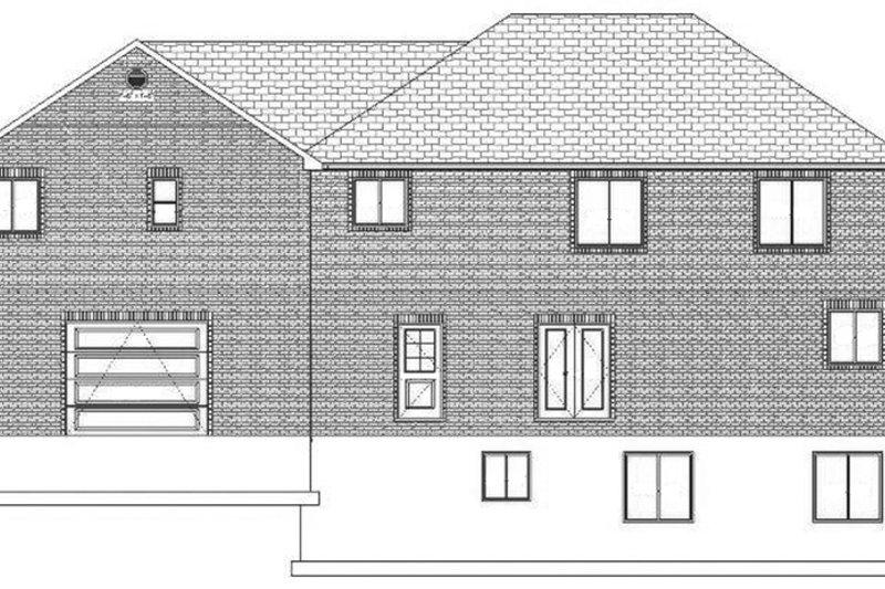 Traditional Exterior - Rear Elevation Plan #1060-18 - Houseplans.com