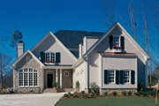 European Style House Plan - 3 Beds 2.5 Baths 2710 Sq/Ft Plan #429-50 Exterior - Front Elevation