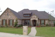 Dream House Plan - Tudor Exterior - Front Elevation Plan #84-714