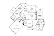 European Style House Plan - 4 Beds 4.5 Baths 5236 Sq/Ft Plan #927-966 Floor Plan - Main Floor Plan