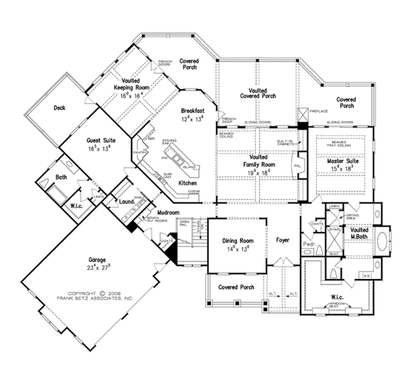 European Floor Plan - Main Floor Plan Plan #927-966