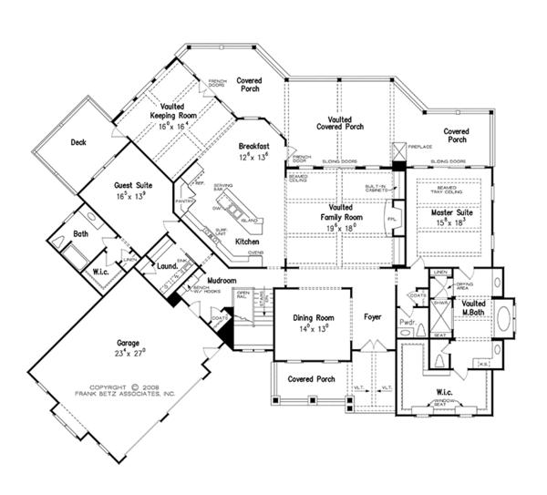 Dream House Plan - European Floor Plan - Main Floor Plan #927-966
