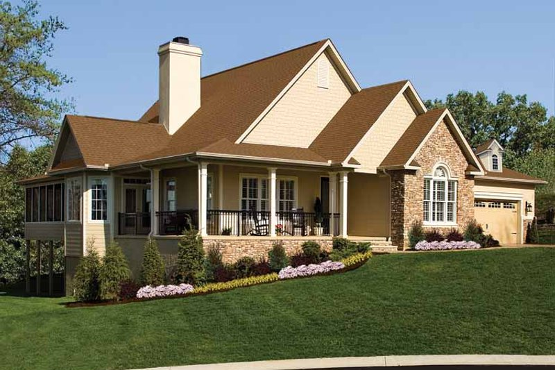 Country Exterior - Front Elevation Plan #929-701 - Houseplans.com