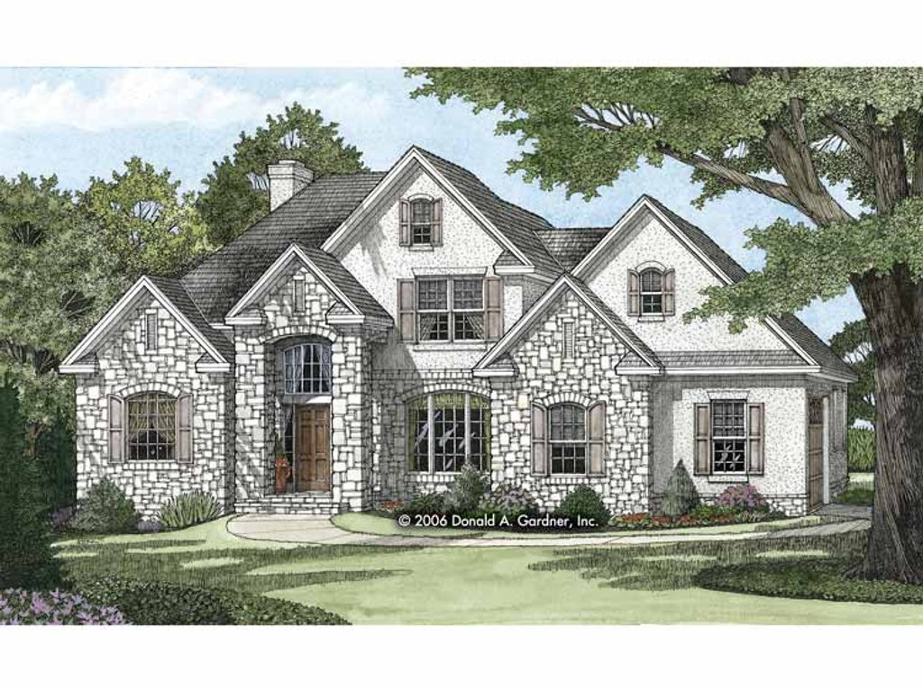 European style house plan 4 beds 3 baths 2130 sq ft plan for High end home plans