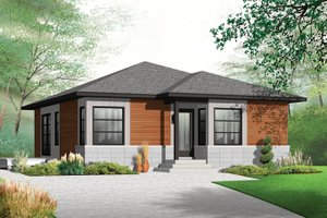 House Plan Design - Contemporary Exterior - Front Elevation Plan #23-2524
