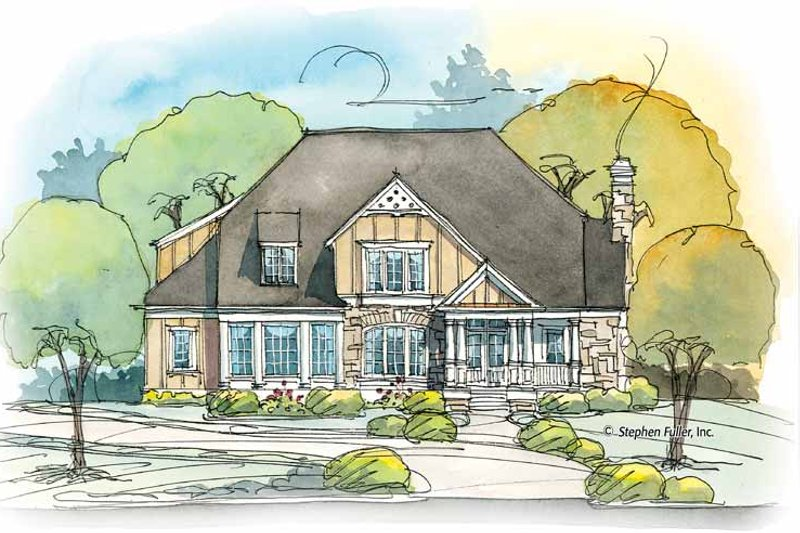 Country Exterior - Front Elevation Plan #429-374