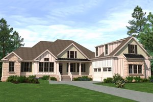 House Plan Design - Farmhouse Exterior - Front Elevation Plan #1071-7
