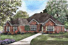 Ranch Exterior - Front Elevation Plan #17-3087