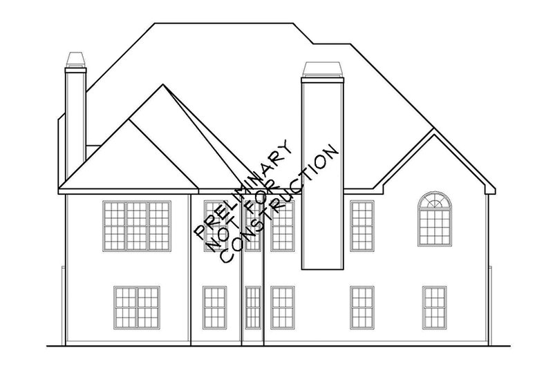 Colonial Exterior - Rear Elevation Plan #927-586 - Houseplans.com