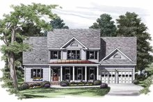 Architectural House Design - Country Exterior - Front Elevation Plan #927-817